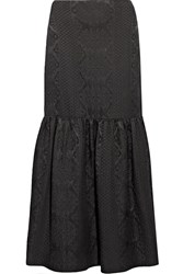The Row Rinnah Wool Blend Cloque Maxi Skirt Black