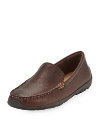 Tommy Bahama Amalfi Leather Slip On Loafer Dark Brown