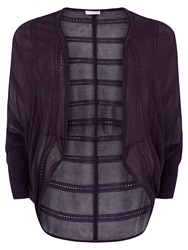 Windsmoor Cocoon Cardigan Dark Purple