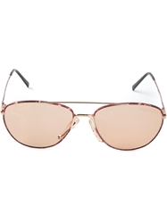 Carrera Vintage Aviator Sunglasses Red