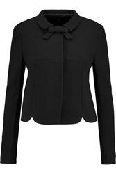 Raoul Bow Embellished Wool Crepe Jacket Black