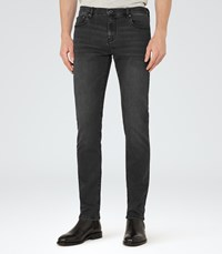 Reiss Pinto Washed Denim Jeans In Black Mens