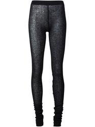 Barbara I Gongini Semi Sheer Ribbed Leggings