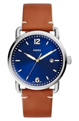 Fossil The Commuter Leather Strap Watch 42Mm