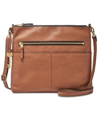 Fossil Fiona Large Crossbody Brown