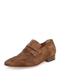 Andy Suede Loafer Brown Berluti