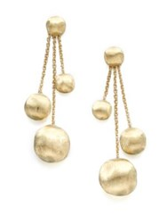 Marco Bicego Africa 18K Yellow Gold Three Strand Ball Drop Earrings