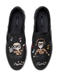 Dolce And Gabbana Dj Designers Leather Slip On Sneakers