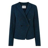Lk Bennett L.K. Wren Tweed Jackets Navy