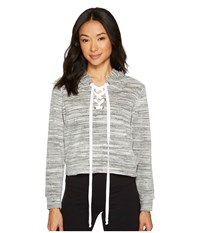 Hard Tail Laced Hoodie Heather Gray Women's Clothing