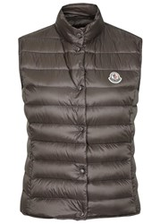 Moncler Liana Taupe Quilted Shell Gilet Grey