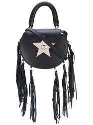 Salar Star Tassel Tote Women Calf Leather Suede One Size Black