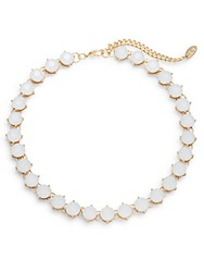 Cara Jeweled Link Necklace White