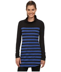 Lole Principle Tunic Blue Mountain Multi Stripe Women's Long Sleeve Pullover