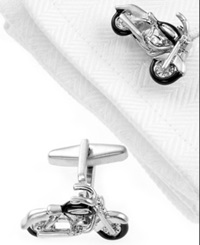 Kenneth Cole Reaction Cufflinks Motorcycle Boxed Set Silver