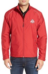 Men's Cutter And Buck 'Ohio State Buckeyes Beacon' Weathertec Wind And Water Resistant Jacket