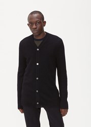 Comme Des Garcons Shirt 'S Wave Knit Cardigan Sweater In Black Size Small 100 Wool