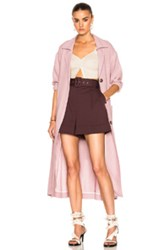Isa Arfen Safari Coat In Pink Purple Pink Purple