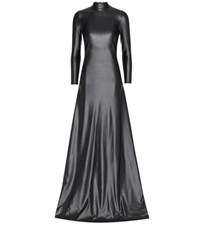 Balenciaga Stretch Jersey Maxi Dress Black
