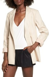 Leith Double Breasted Blazer Beige Morn
