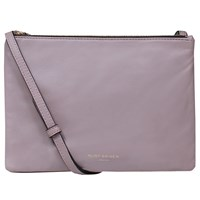Kurt Geiger Pisces Leather Pouch Clutch Bag Lambskin Nude