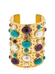 Sylvia Toledano Manchette Byzance Turquoise Pearl Cuff