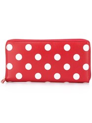 Comme Des Garcons Wallet 'Polka Dots' Wallet Red