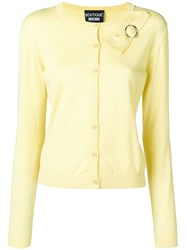 Boutique Moschino Classic Cardigan With Bow Detail Yellow