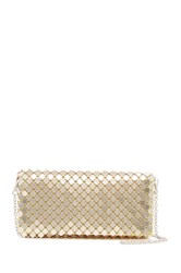 Cara Accessories Metal Mesh Clutch Metallic