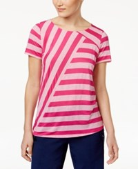 G.H. Bass And Co. Mixed Stripe Top Passion Pink