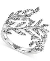 Effy Collection Effy Diamond Leaf Ring 5 8 Ct. T.W. In 14K White Gold