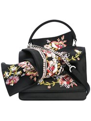 N 21 No21 Floral Embroidery Tote Bag Black