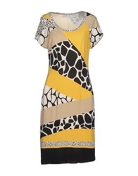 Angelo Marani Short Dresses Yellow