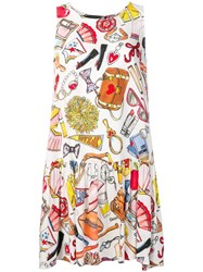 Love Moschino Patterned Dress White