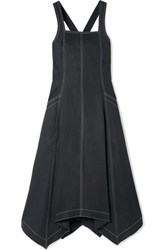 Ulla Johnson Cheyenne Tencel And Cotton Blend Midi Dress Black