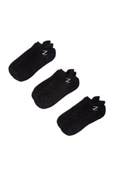 Z By Zella Nylon Back Tab Sport Socks Pack Of 3 Black