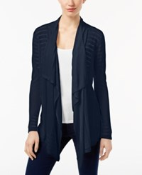 Inc International Concepts Pointelle Cardigan Only At Macy's Deep Twilight
