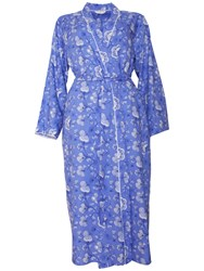 Cyberjammies Vienna Floral Print Long Robe Blue Multi