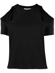 Courreges Cold Shoulder Blouse Black