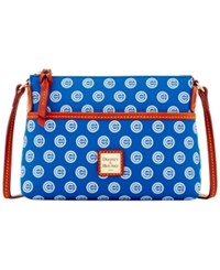 Dooney And Bourke Chicago Cubs Ginger Crossbody Blue