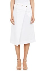 Atlantique Ascoli Women's Jupe Plaid Skirt White