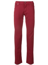 Dolce And Gabbana Slim Fit Jeans Red