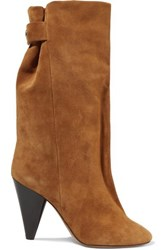 Isabel Marant Lakfee Suede Boots Light Brown