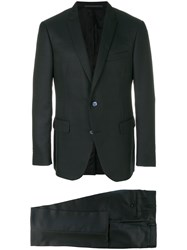 Pal Zileri Formal Suit Polyester Wool Cupro Black