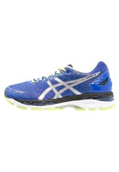 Asics Gelnimbus 18 Cushioned Running Shoes Blue Purple Silver Sunny Lime