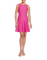Donna Morgan Textured Fit And Flare Dress Flux