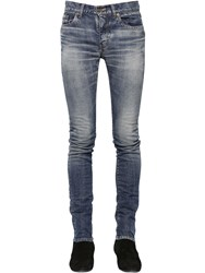 Saint Laurent 15Cm Low Rise Stretch Denim Jeans