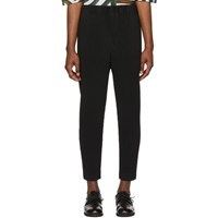 Homme Plisse Issey Miyake Black Tapered Cropped Trousers