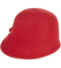 Ted Baker Peaked Felt Cloche Hat Mid Red