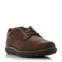 Timberland A1910 Wedge Sole Gibson Shoes Dark Brown